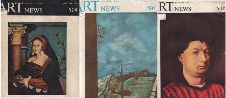Exemplares mais antigos da Artnews no acervo da Biblioteca