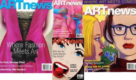 Exemplares da ARTnews do acervo da Biblioteca