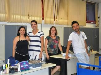 Alessandra, Sarah, Samanta e Marcelo